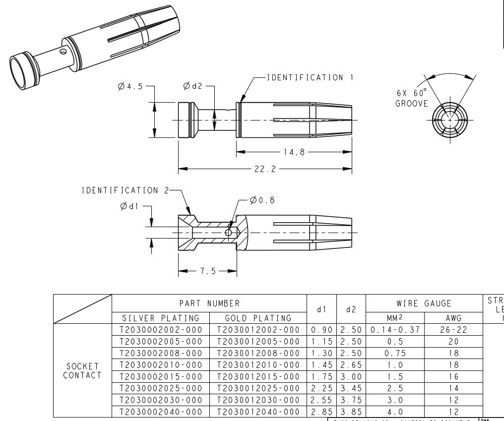 TE AMP T2030002010-000 CEF